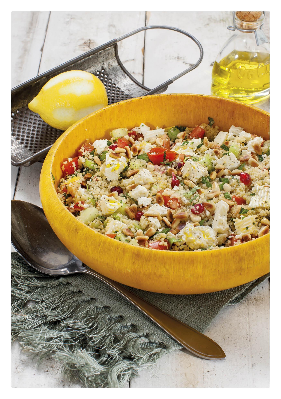 Couscous salade met geroosterde paprika