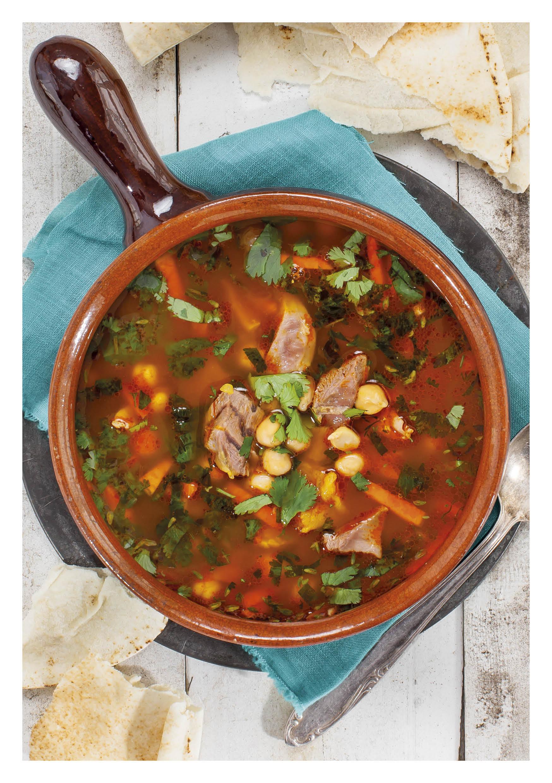 Harira soep met lamsschenkel