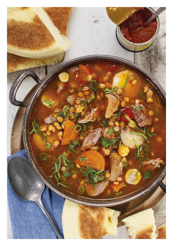 Linzen soep met lamsschenkel